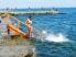 Спуск в воду на пляже Ланжерон