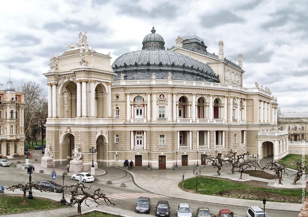 Фасад Одесского оперного театра